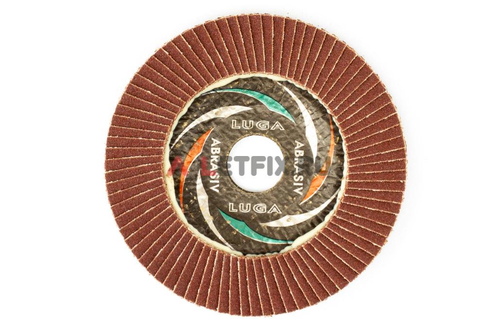 Диск лепестковый торцевой КЛТ1 115*22,23 A100 Luga Abrasiv (Луга)