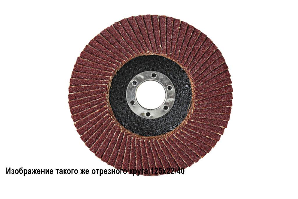 Круг шлифовальный лепестковый торцевой 125х22 A P 100