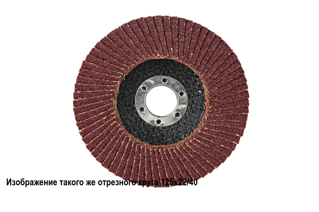 Круг шлифовальный лепестковый торцевой 125х22 A P 150