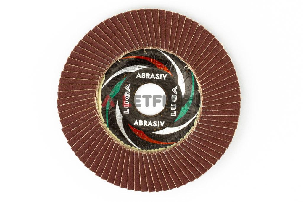 Диск лепестковый торцевой КЛТ1 125*22,23 A180 Luga Abrasiv (Луга)