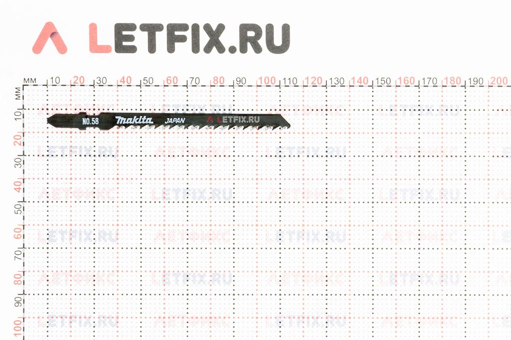 Размеры пилки для электролобзика Makita A-86577 B-58 75х105/3,2