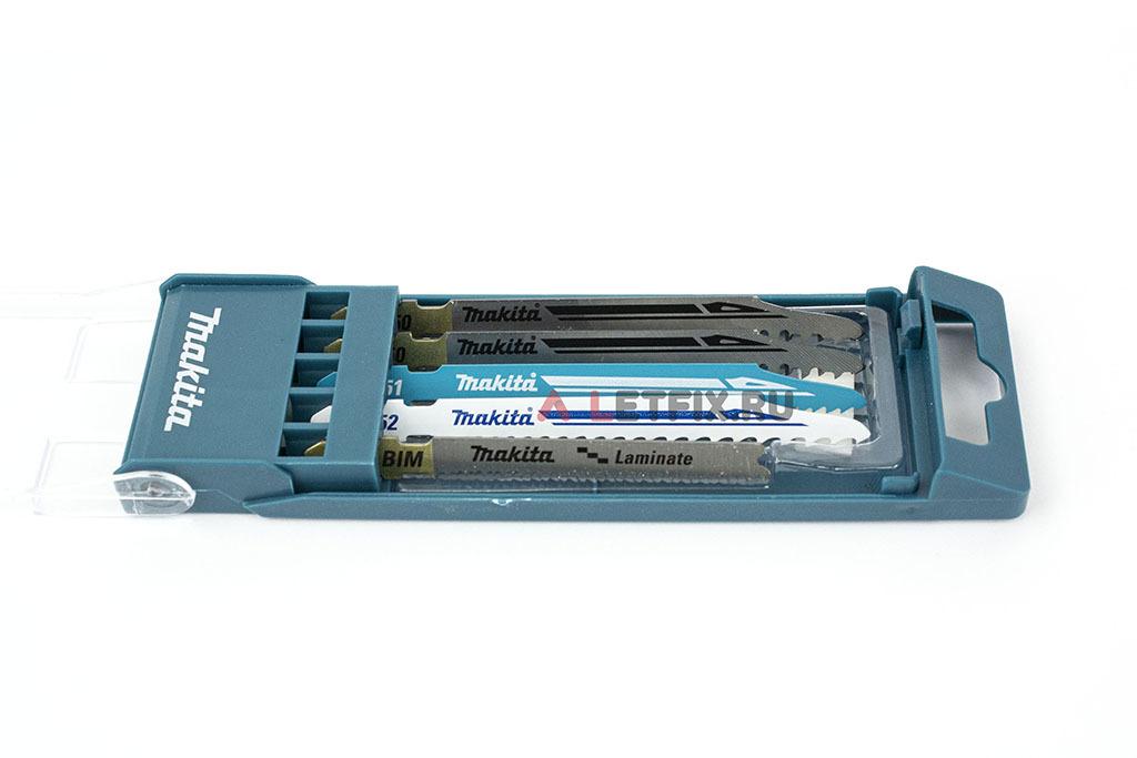 Набор пилок для лобзика Makita B-48527 из 5 штук: B-50 (2 шт.), B-51, B-52, B-53