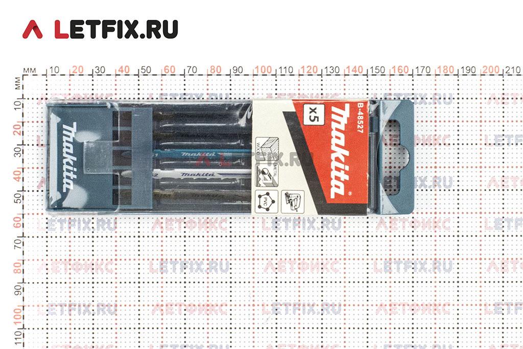 Размеры набора пилок для лобзика Makita B-48527