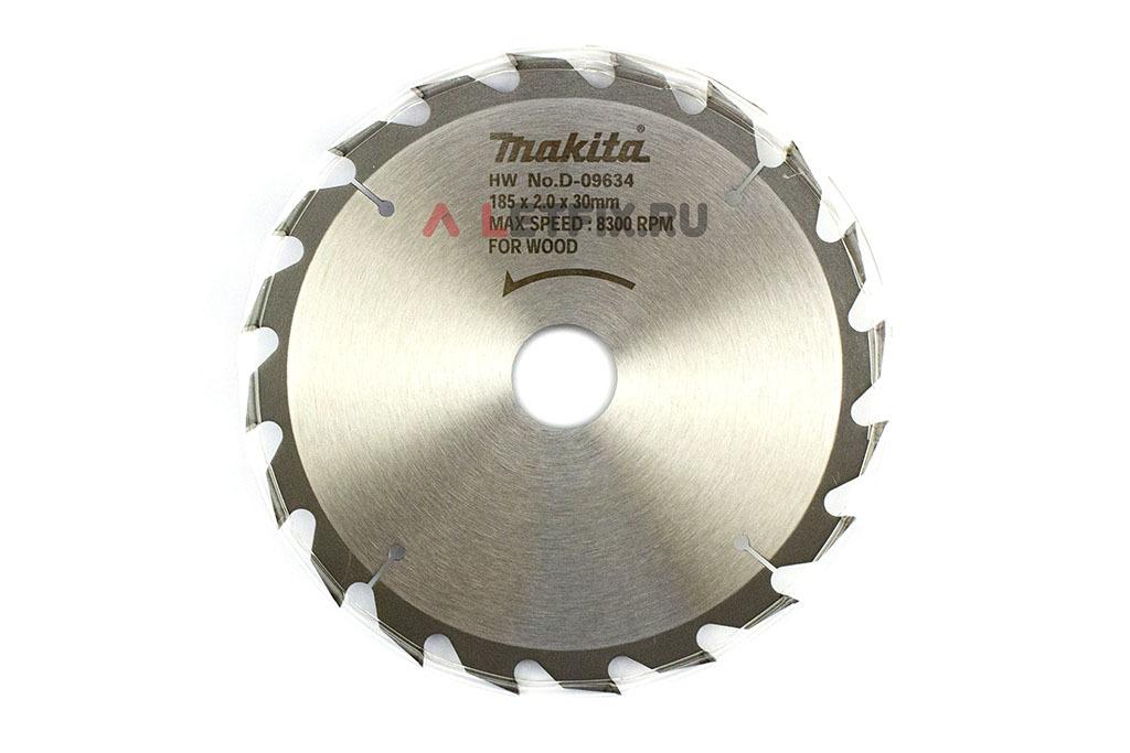 Пильный диск Макита Стандарт D-09634 диаметром 185 мм (20 зубьев)