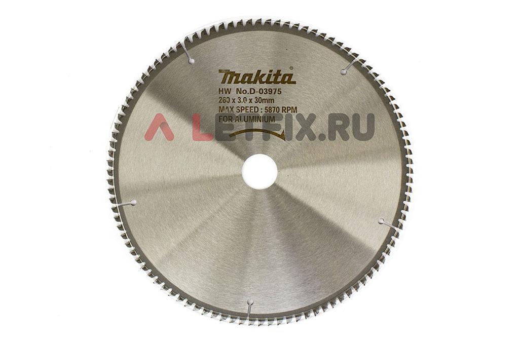 Пильный диск Макита Specialized D-03975 диаметром 260 мм (100 зубьев) по алюминию, меди и цветным металлам