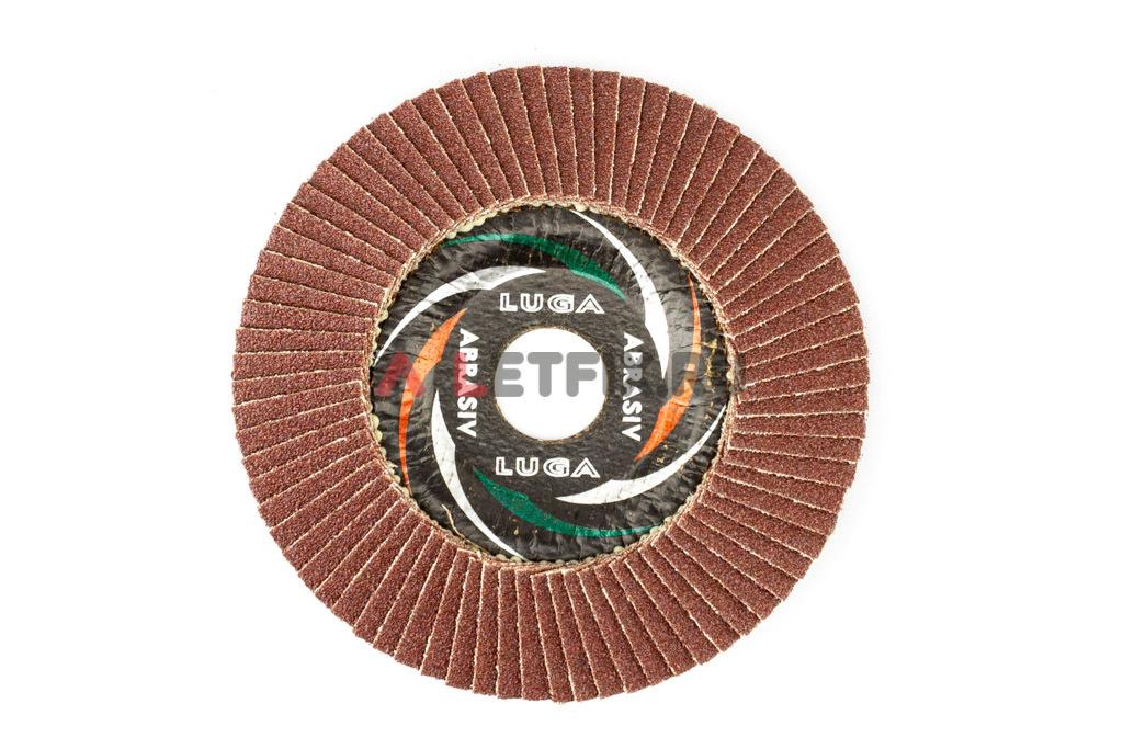 Круг шлифовочный (шлифовальный) лепестковый скругленный 125х22,23 мм A60 Луга КЛТ 2