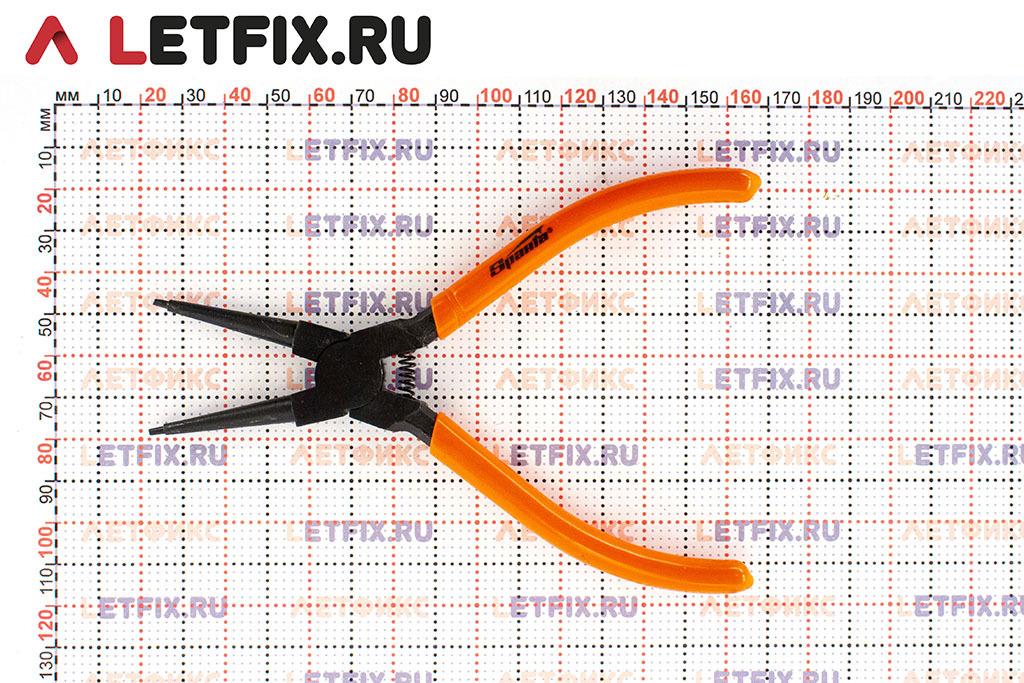Размеры прямого съемника для внутренних стопорных колец диаметром 19–60 мм