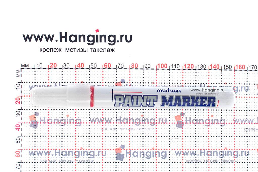 Размеры красного строительного маркера-краски Munhwa PM-03