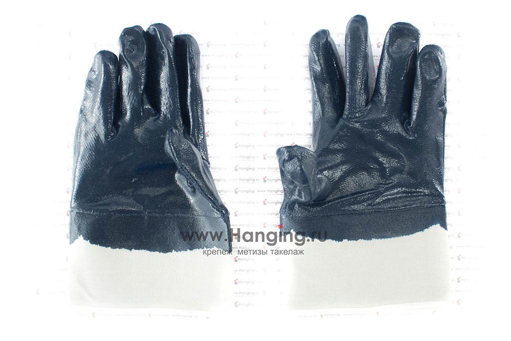 Износостойкие перчатки (4 нити) х/б с нитриловым покрытием
