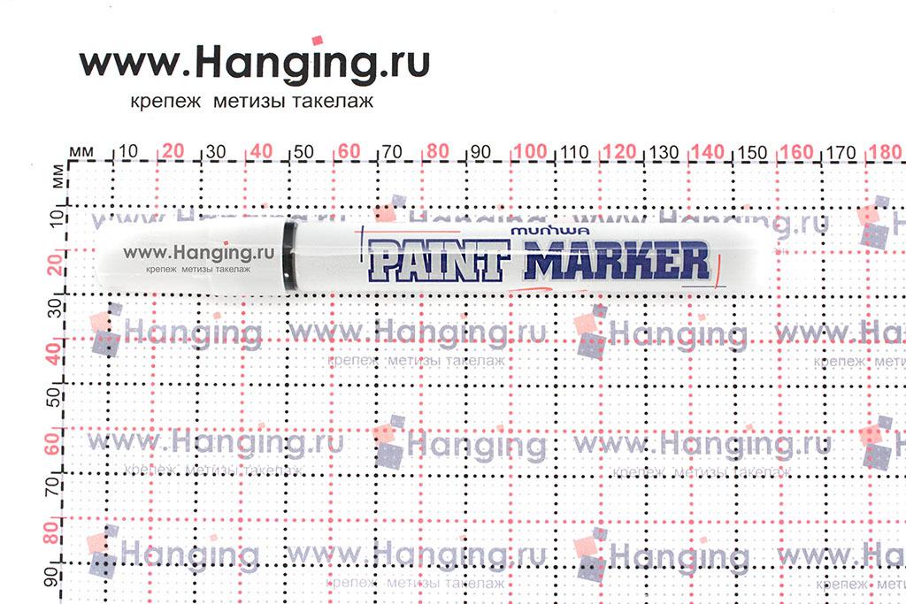 Размеры красного строительного маркера-краски Munhwa PM-01