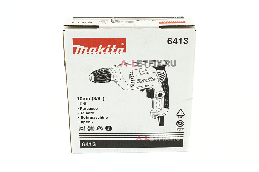 Упаковка (коробка) дрели Makita 6413