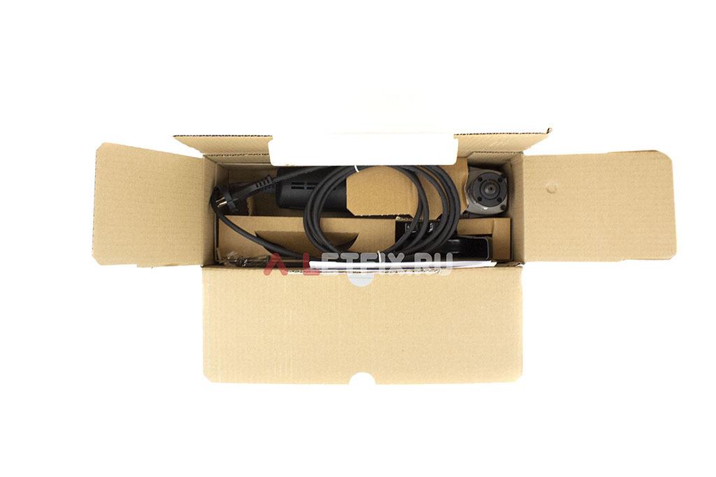 Состав упаковки угловой шлифовальной машины (УШМ) Makita 9565НZ