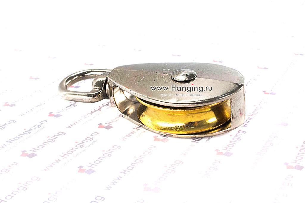 Блок одиночный для троса с металлическим диском