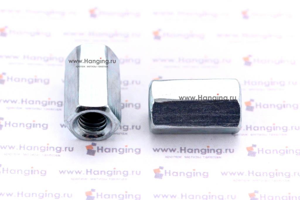 DIN 6334 — гайка соединительная для резьбовых шпилек.