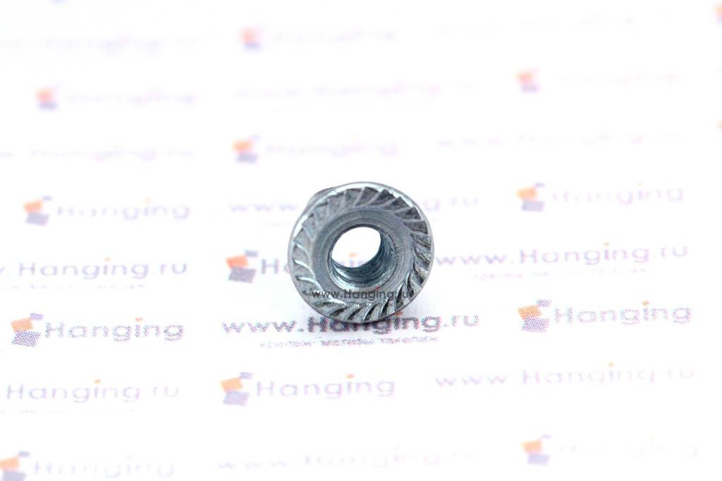 Фланец с рифлением гайки DIN 6923