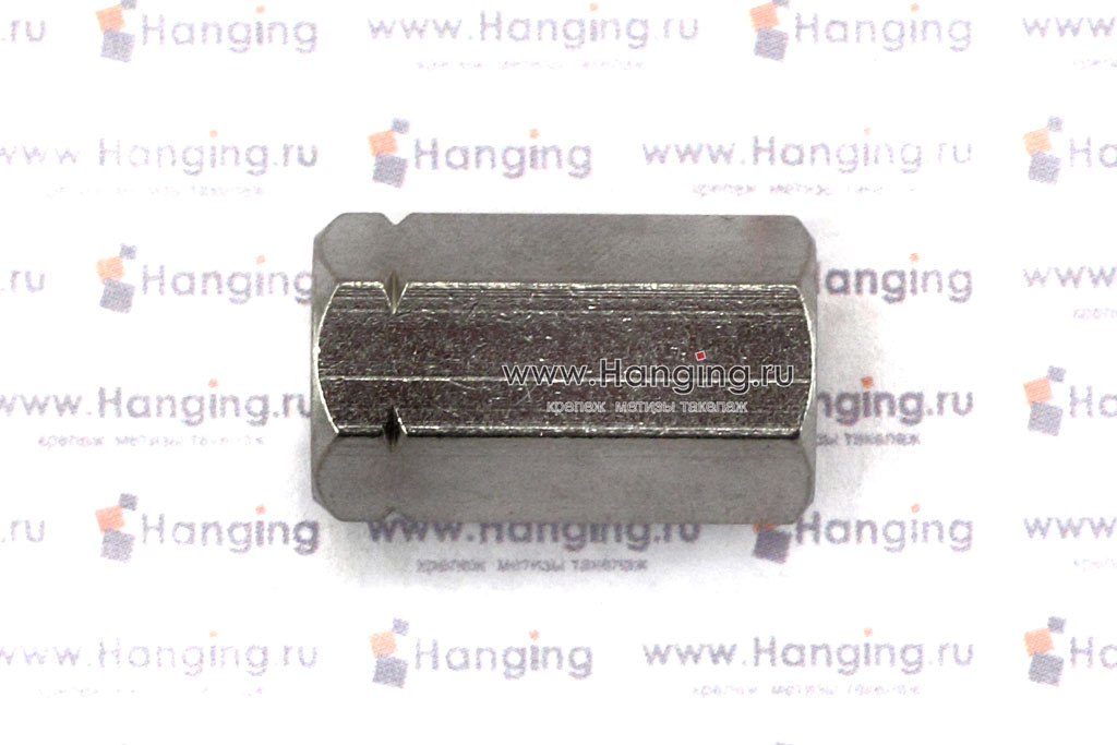 Соединительная нержавеющая гайка DIN 6334 из стали А2