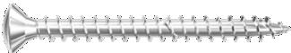 Шуруп из никелированной стали с полной резьбой Power Fast Fischer