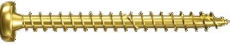 Шуруп с желтым цинкованием с полной резьбой Power Fast Fischer