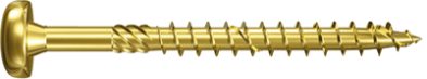 Шуруп с желтым цинкованием с неполной резьбой Power Fast Fischer