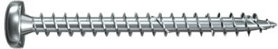 Шуруп с серым цинкованием с полной резьбой Power Fast Fischer