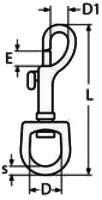 Основные размеры собачьего карабина
