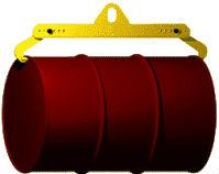 Захват-траверса для подъема и перемещения бочек и баков в горизонтальном положении