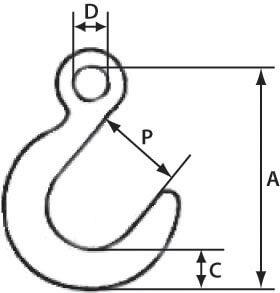 Технические размеры и характеристики крюка на 15 тонн