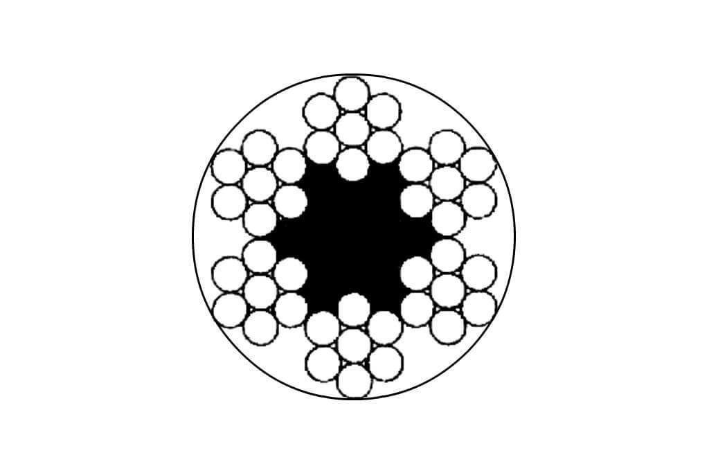 Чертеж стального оцинкованного троса DIN 3055 с ПВХ изоляцией