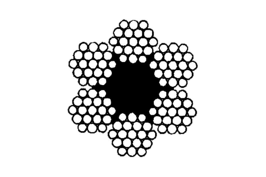 Чертеж стального каната двойной свивки ЛК-Р ГОСТ 2688-80
