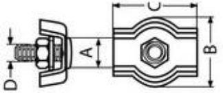 Зажим троса Simplex из нержавеющей стали