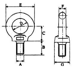 Техниченские размеры рым-болта М42