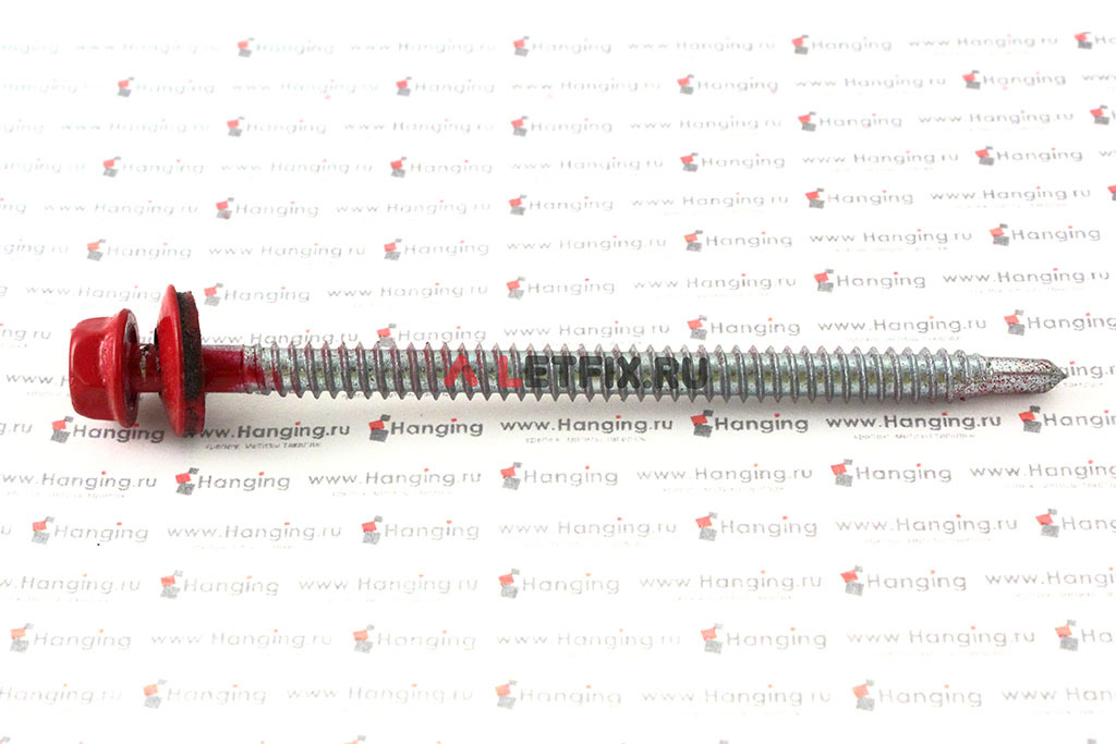 Рубиново-красный цвет RAL 3003 саморез кровельный со сверлом по металлу