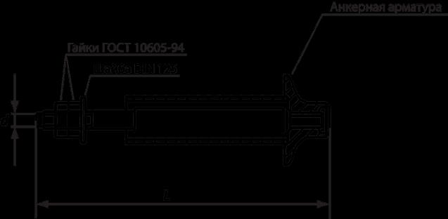 Анкерный болт ГОСТ 24379.1-80, тип 4, исполнение 2