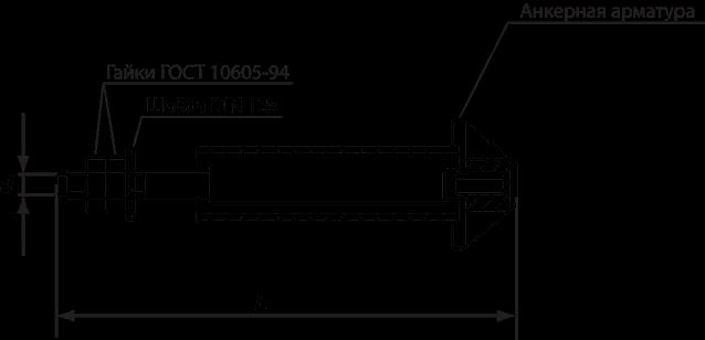 Анкерный болт ГОСТ 24379.1-2012, тип 4, исполнение 3