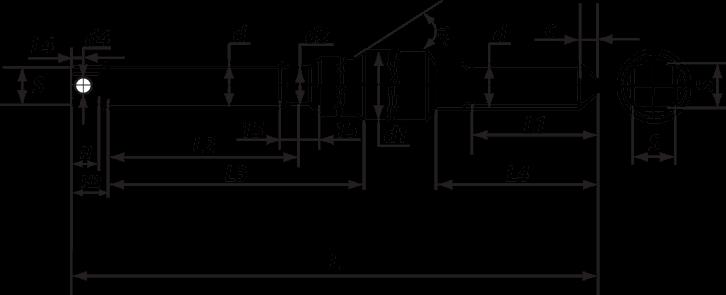 Шпилька фундаментного анкера типа 4 исполнения 3.