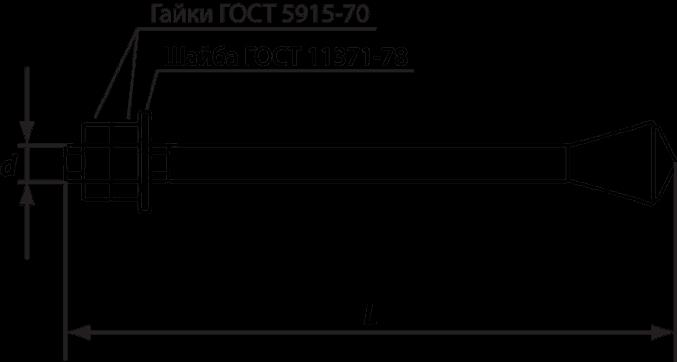 Анкерный болт ГОСТ 24379.1-2012, тип 6, исполнение 3