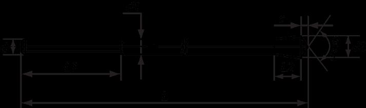 Шпилька фундаментного анкера типа 6 исполнения 3.