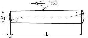 DIN 1 — штифт конический.
