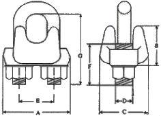 DIN 1142 — зажим для каната, троса.