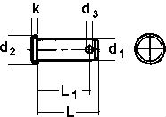 DIN 1434 — палец цилиндрический с маленькой головкой.