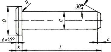 DIN 1435 — палец цилиндрический с плоской головкой.