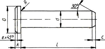 Цилиндрический палец DIN 1435 - характеристики.
