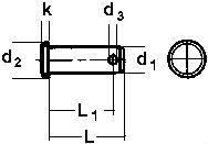 DIN 1444 — штифт цилиндрический с плоской головкой.
