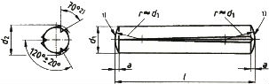 DIN 1471 — штифт конический с насечкой.