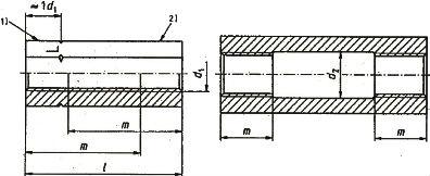 Гайка длинная DIN 1479 - размеры, характеристики.