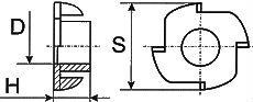 Гайка DIN 1624 - размеры, характеристики.