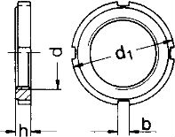 DIN 1804 — гайка шлицевая круглая.