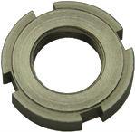 DIN 1804 — гайка шлицевая круглая с метрической резьбой частого шага.