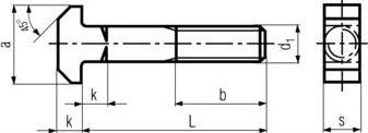 DIN 186 — болт  головкой т-образной формы.