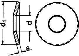 Шайба пружина DIN 2093 - размеры, характеристики.